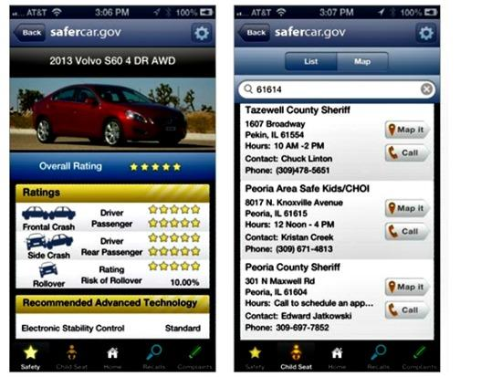 The New NHTSA safety app