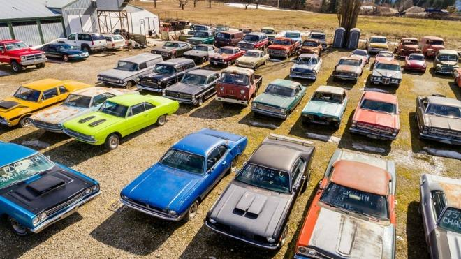 Mike Hall of British Columbia is selling more than 340 cars and five acres for about $1 million.