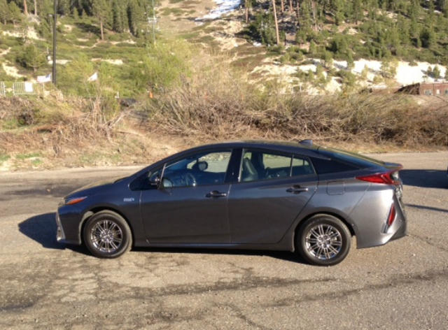 The 2017 Toyota Prius Prim has a new, sleek modern design.