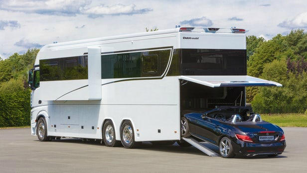 German motorhome cost $1 million, will carry your car