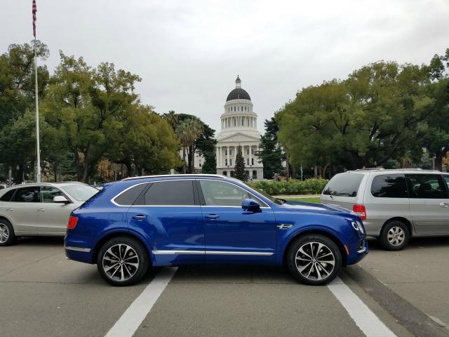 The 2017 Bentley Bentayga is the fastest SUV ever made. It has a top speed of 187 mph.
