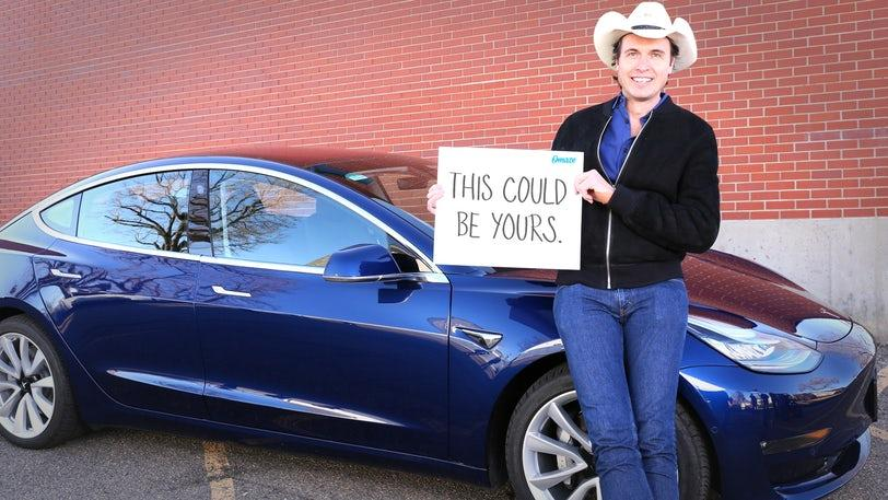 Kimbal Musk has launched a fundraising campaign with chanced to win his Tesla 3.