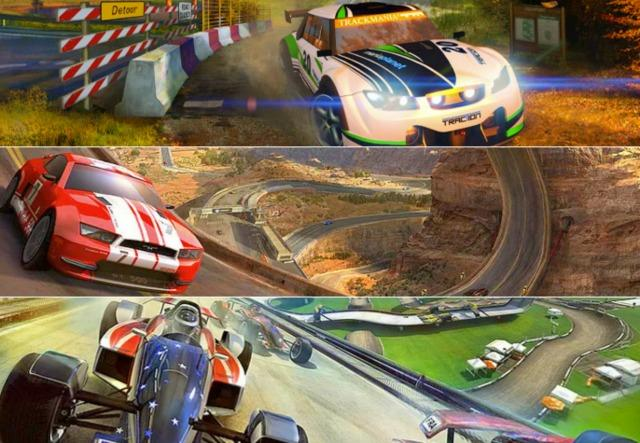 Trackamania offers four different racing vehicles.