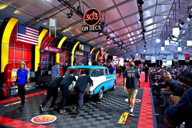 About 600 vehicles are presented for auction during Mecum Auctions during Monterey Auto Week.