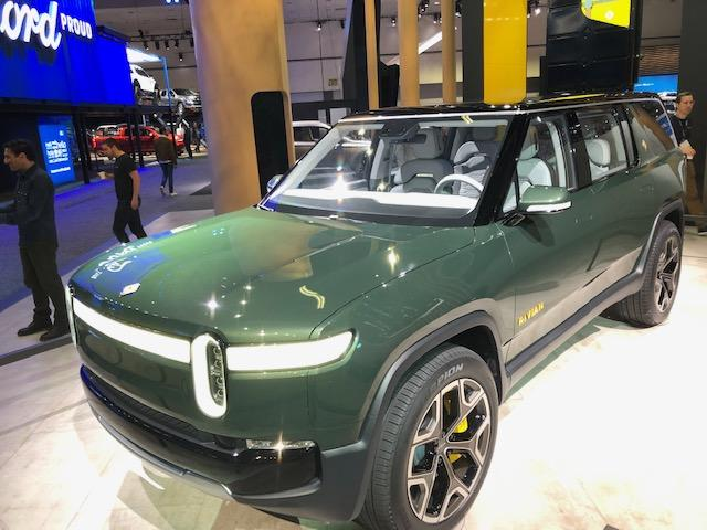 The Rivian Concept electric trucks and SUV are potential competitors for Tesla and were featured at the LA Auto Show.