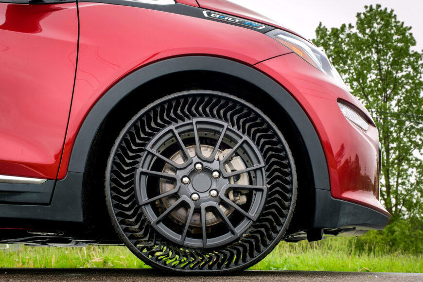 Michelin, GM, Goodyear are all developing airless tires.