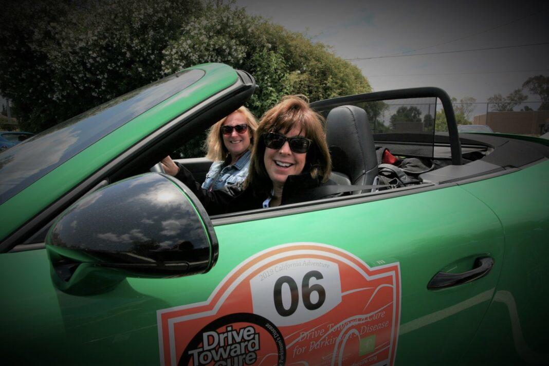 Deb Pollack (driving) is the founder of Drive Toward A Cure.