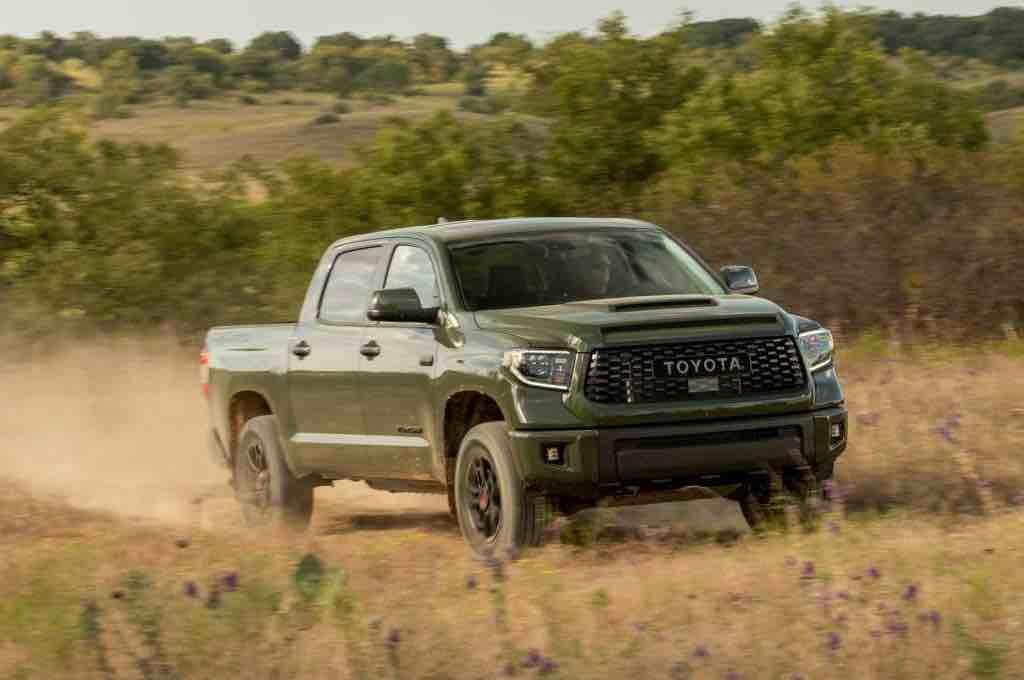 The 2020 Toyota Tundra lightweight truck deally suited Army Green.