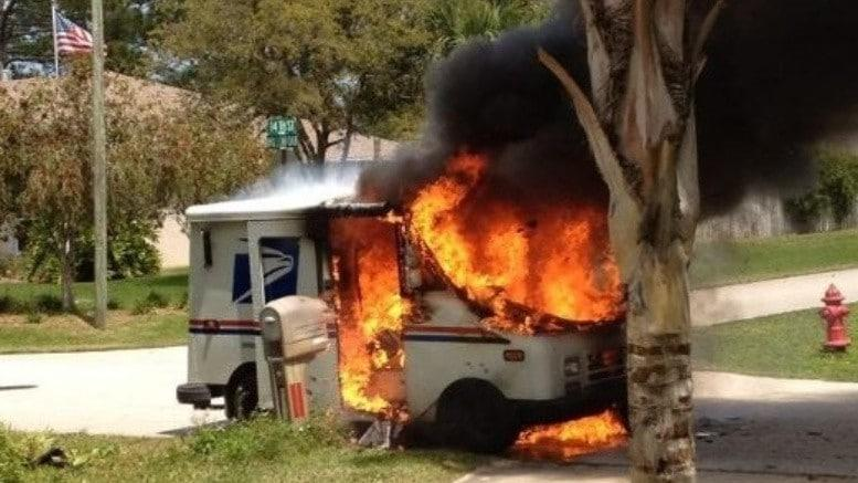 U.S. Postal Service trucks are burning at a surprisingly hight rate.