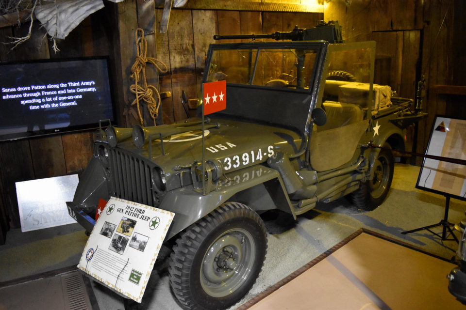 The American Armory Museum features one of Gen. Geroge Patton's Jeeps.