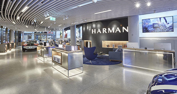 A new Harman consumer store in Munich, Germany.