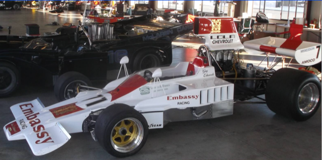 Todd Reiners has sevearl vintage race cars including a