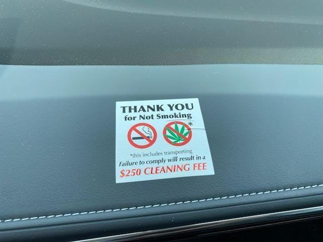 The smell of dope smoke in cars is a growing concern in the rental car industry.
