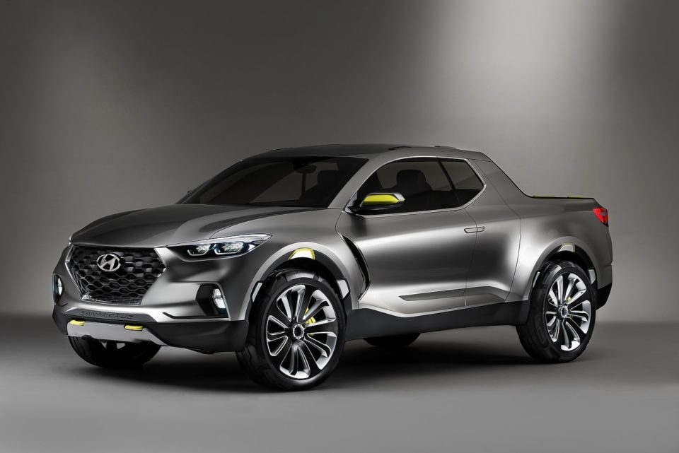 The Hyundai Santa Cruz via a concept rendering.