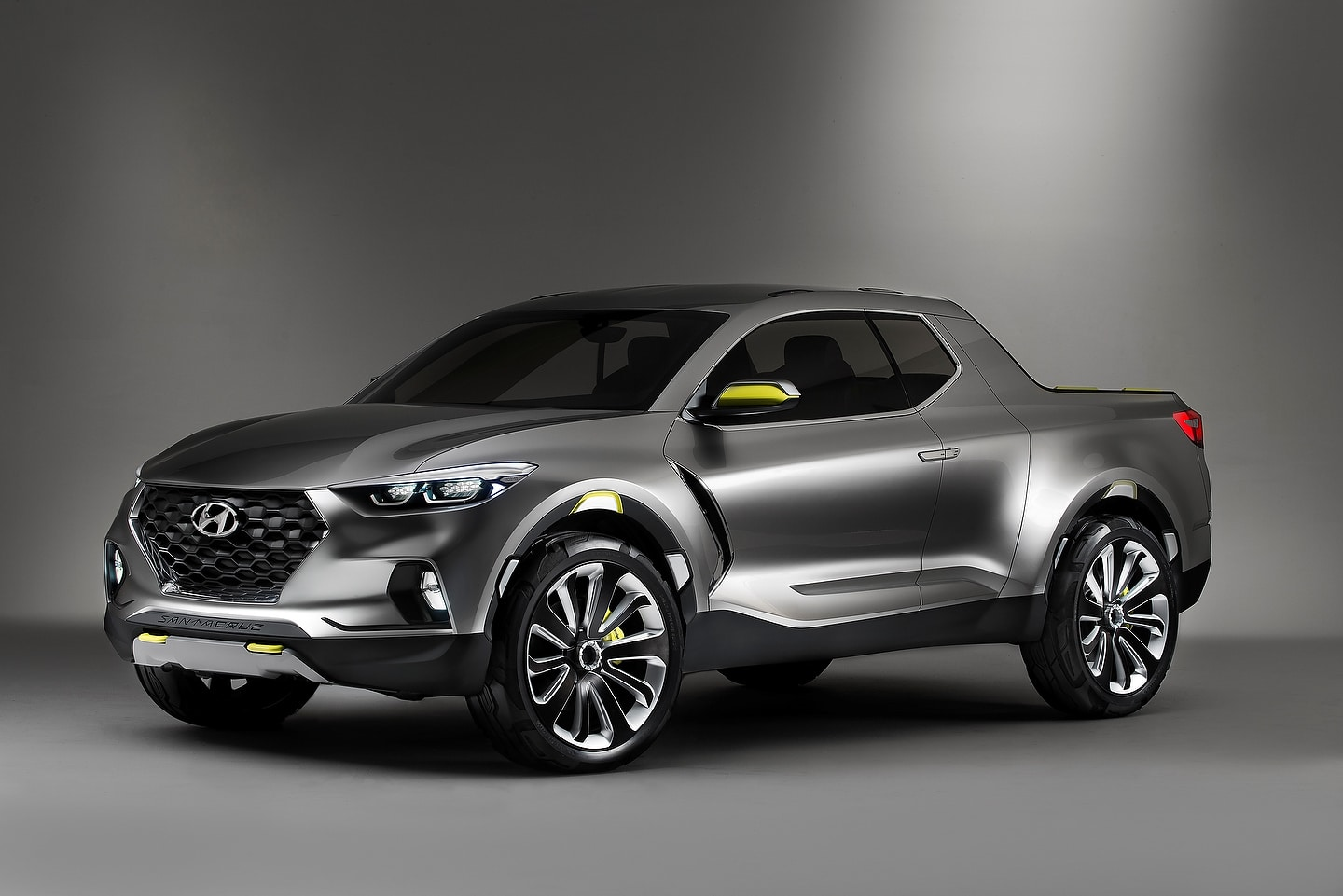 The Hyundai Santa Cruz via concept rendering.