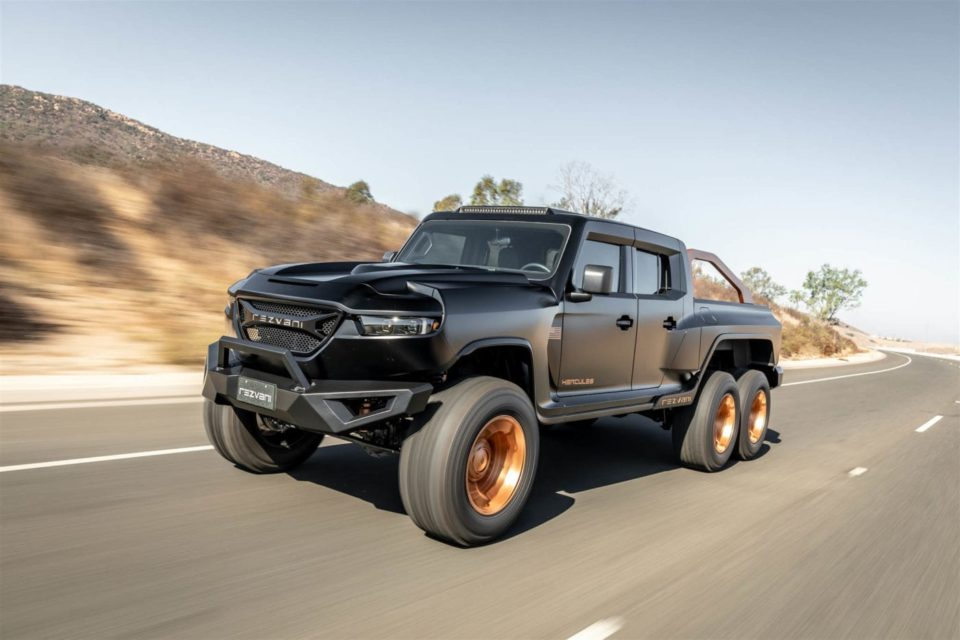 The Hercules 6x6 is the latest powerful truck offered by Rezvani Motors