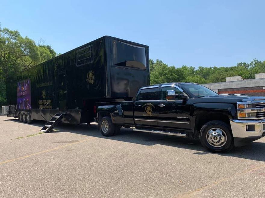 A Michigan businessman has converted his semi-truck into a mobile bowling alley.