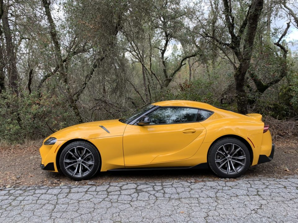 The 2021 Toyota Supra is offered in two trims and in Nitro Yellow.
