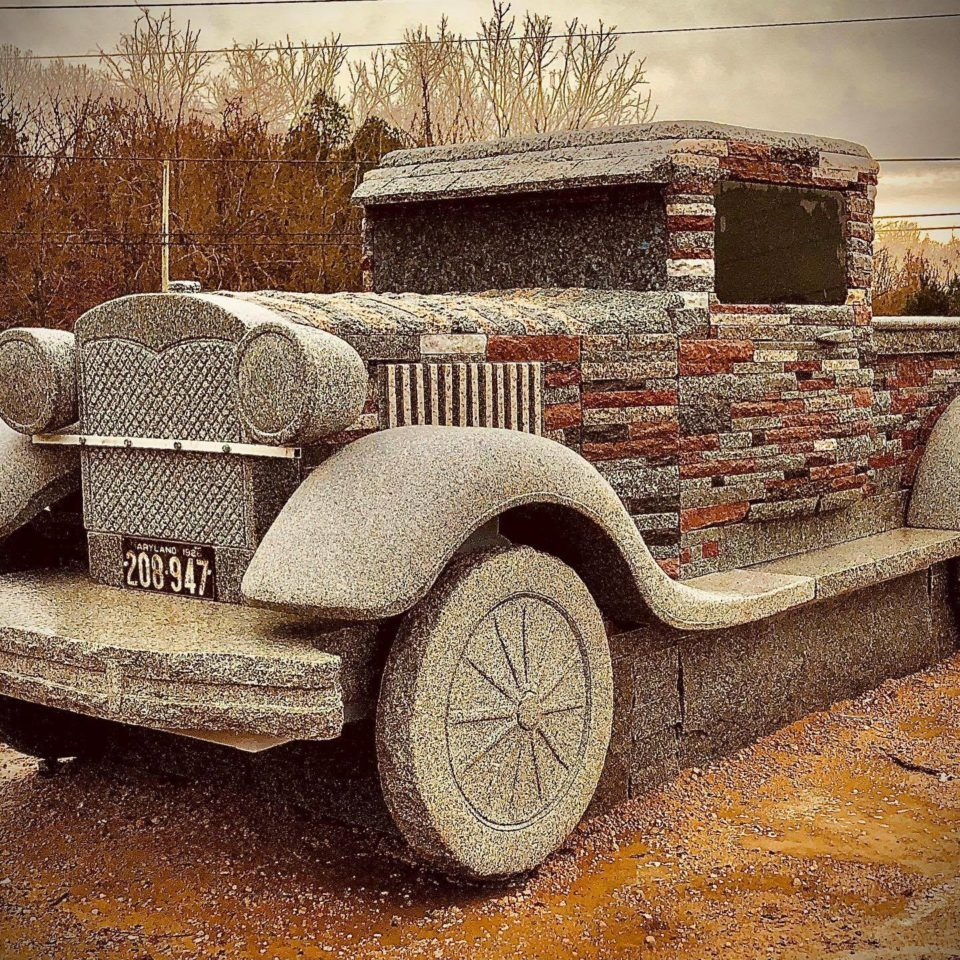 Chris Miller's latest stone truck, a Ford Model A.