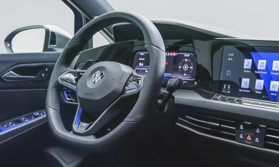 The 2020 Volkswagen Golf R will have a newly designed interior.