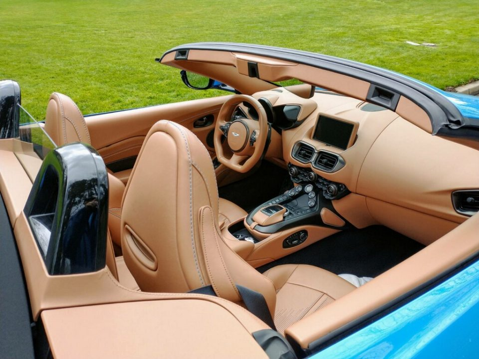 The 2021 Aston Martin Vantage has a superior quality leather interior.
