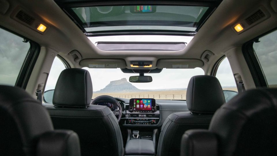 The 2022 Nissan Pathfinder has a spacious interior.