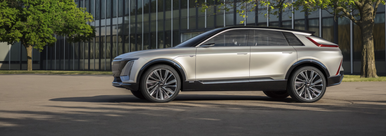 The Cadillac LYRIQ is the brand's first EV SUV.