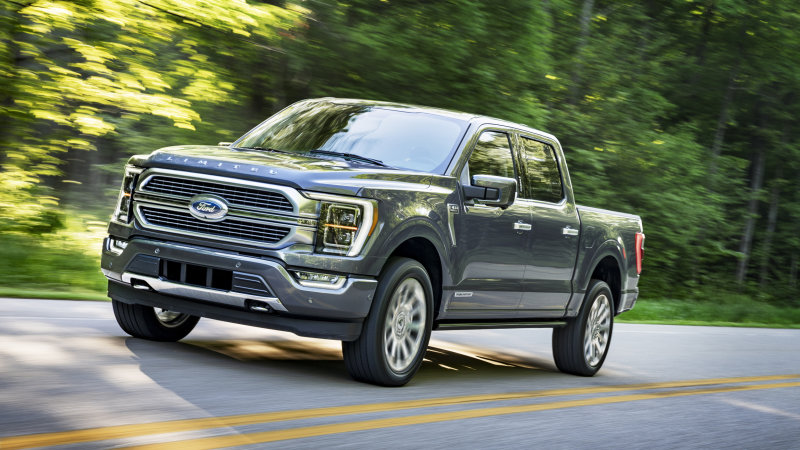 Some configurations of The 2021 Ford F-150 have a towing capacity of 14,000 pounds.