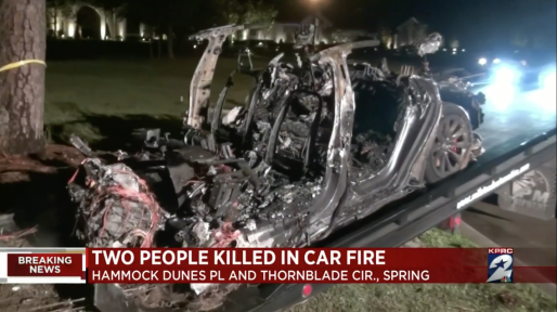 A driverless Tesla crash left two dead in Texas.