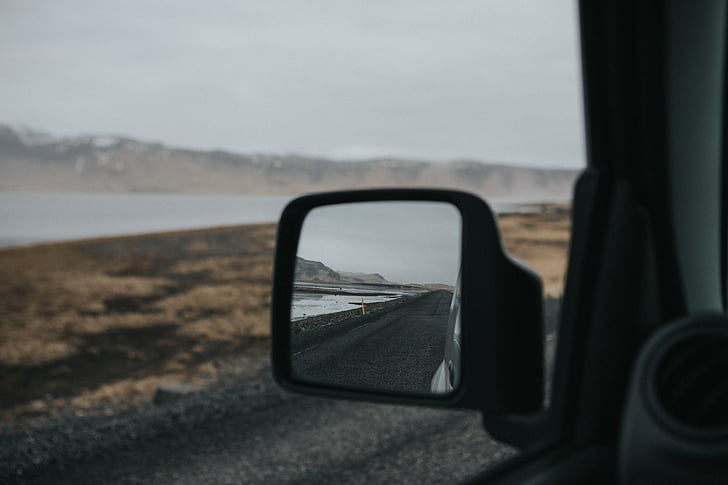 Clean car side mirrors are imperative for safe driving.