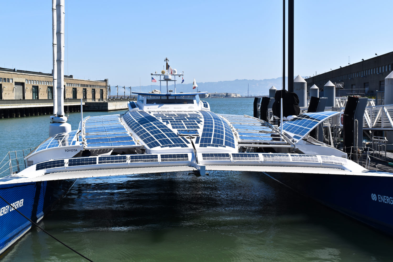 Th Energy Observer is on a global voyage to promote alternative energy sources. All images © Bruce Aldrich/2021