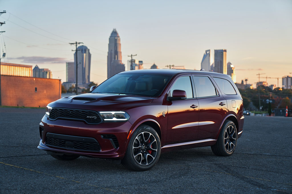 2021 Dodge Durango SRT Hellcat: The most powerful SUV ever features a new aggressive exterior, a new interior with a driver-centric cockpit and delivers 710 horsepower, shown here in Octane Red.