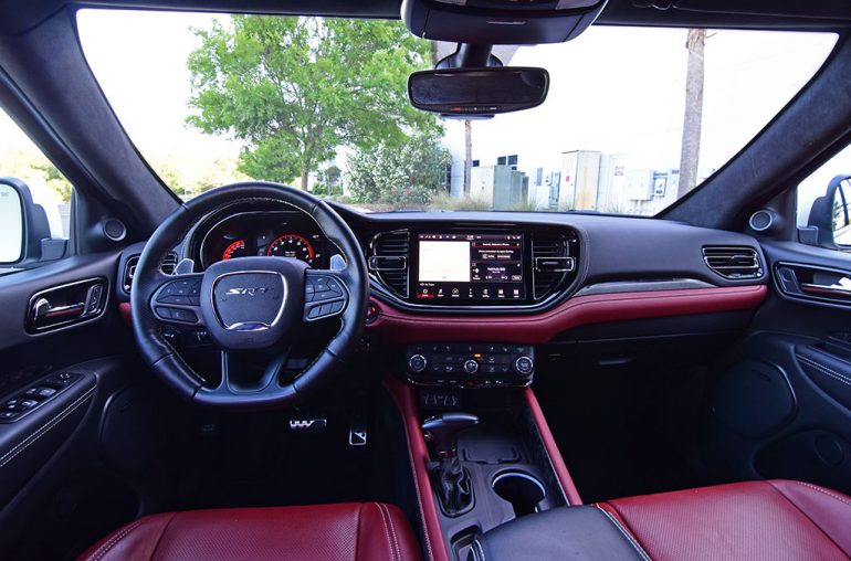 The 2021 Dodge Durango SRT Hellcat has a plush interior and plenty space.