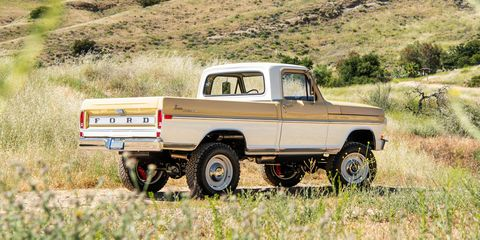 Old trucks are selling for a lot more recently because of a shortabe of computer chips for new trucks.