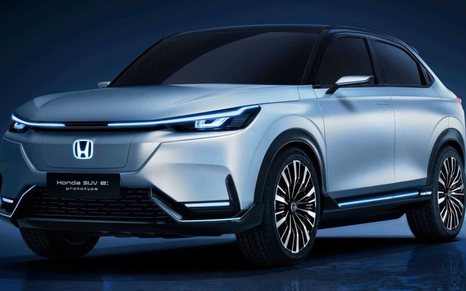 A prototype rendering of the 2024 Honda Prologue.
