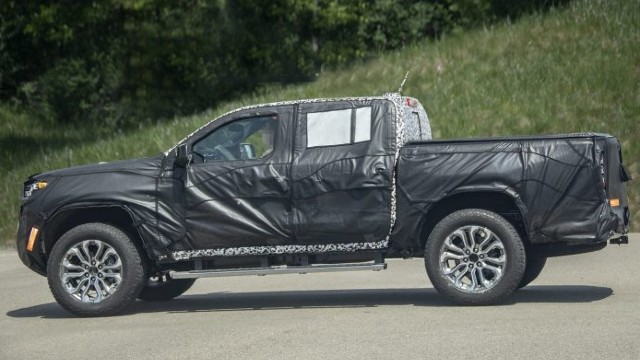 The 2023 GMC Canyon in still under wraps.