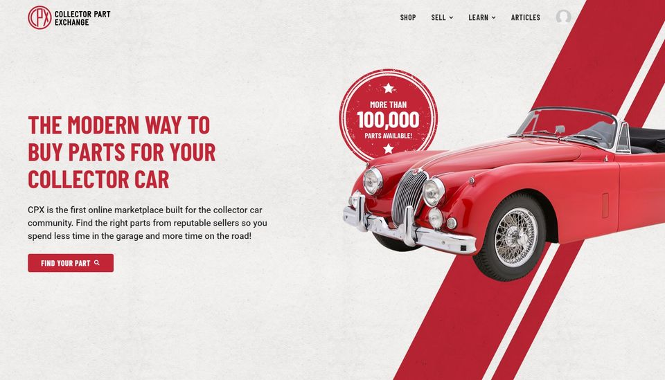 Collector Part Exchange is a new online automotive resource.