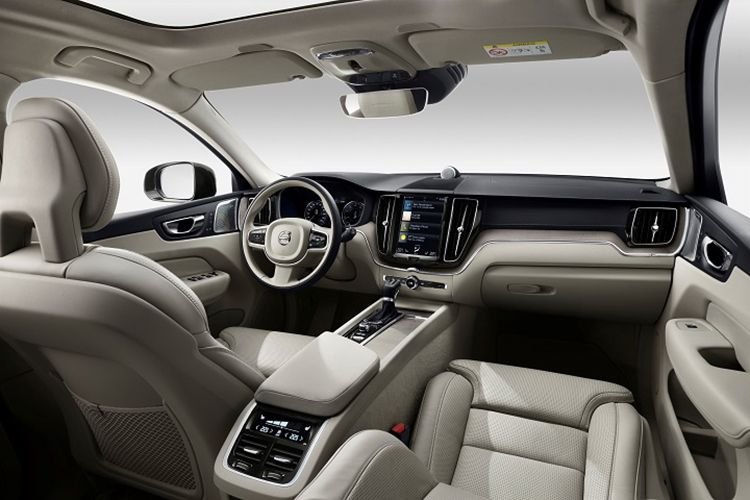 The interior of the 2021 Volvo XC 90 is plush and spacious.