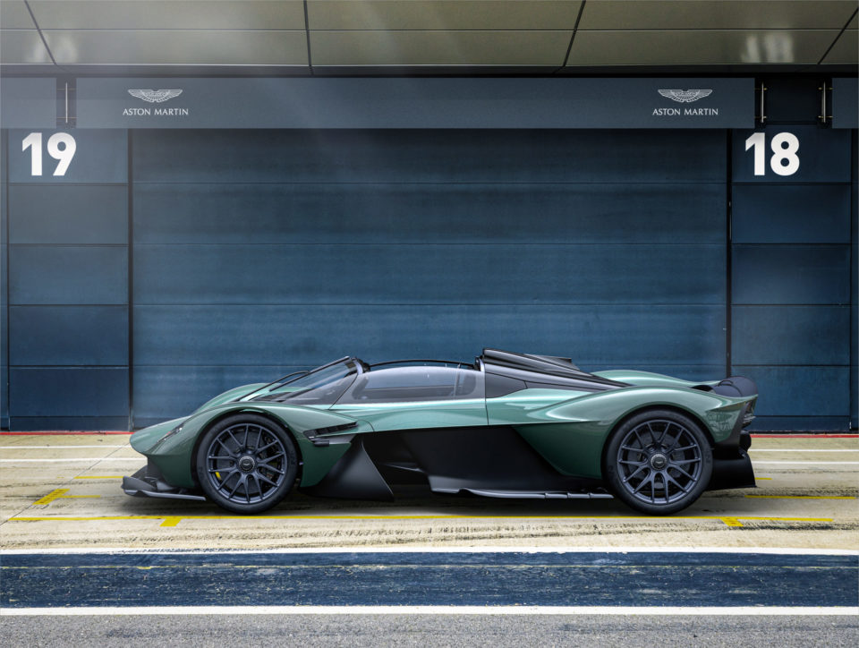 Aston Martin has unveiled its new hypercar the Valkyrie Spider.