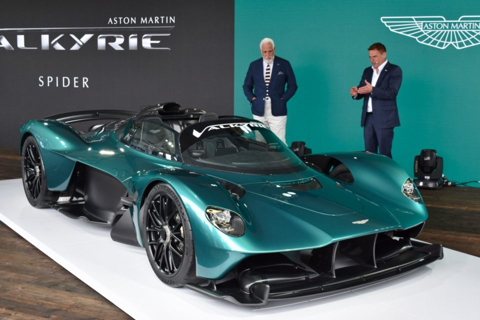 Lawrence Stroll, Executive Chairman, Aston Martin, and Tobias Moers, CEO, present the Aston Martin Valkyrie.