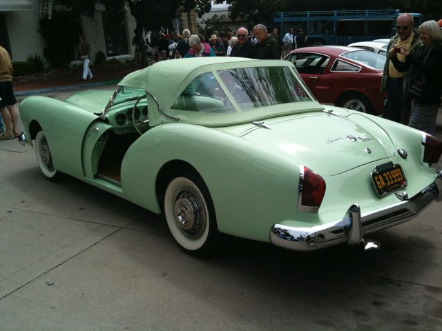 A Kaiser Darrin showcased at Concours of the Avenue in Carmel, California