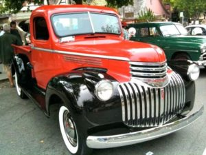 A 1941 Chevrolet Half-ton pickup truck showcased at Concours on the Avenue during Monterey Auto Week.