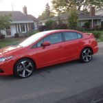 The 2015 Honda Civic Si is is a sporty compact sedan or coupe.