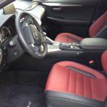 The sport-oriented Lexus 200t F Sport has two-tone interior.