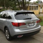 The 2016 Acura MDX has a sub-par console with less that luxury materials.