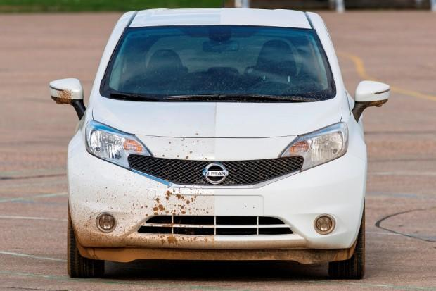 Nissan is testing a self-cleaning car formula in Europe on Nissan Note.