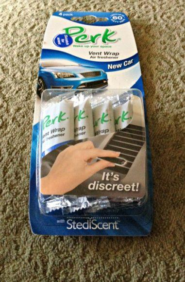 A four-pack fo PERK Vent Wrap Air Fresheners.