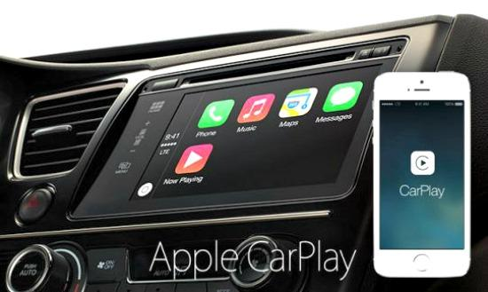 The new Apple CarPlay software integrates in current navigation systems.