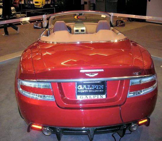 A  shiny new Aston Martin at the 2012 LA Auto Show.