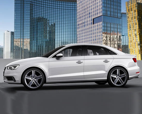 The side view of the 20-15 Audi A3.